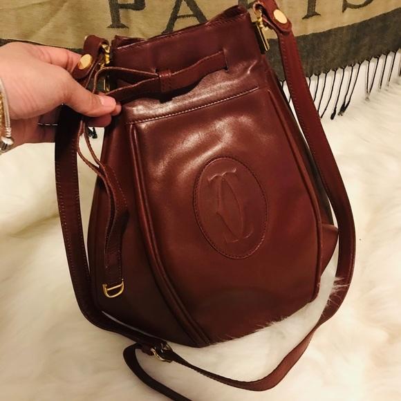 Authentic Vintage Cartier leather bag
